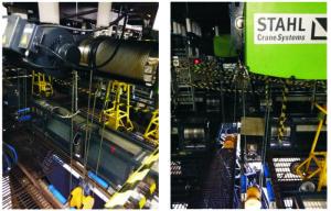 As talhas de cabo de aço da STAHL talhas de cabo de aço participam do programa SUPERSTAR da TV GLOBO