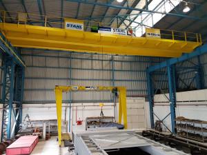 Com pontes e pórticos rolantes STAHL, o IPT inaugura o mais moderno sistema de ensaios de elementos de ancoragem
